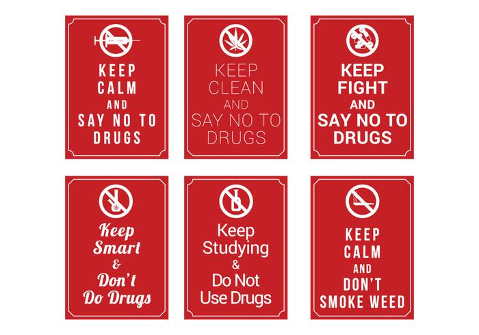 No Drugs Poster Vector