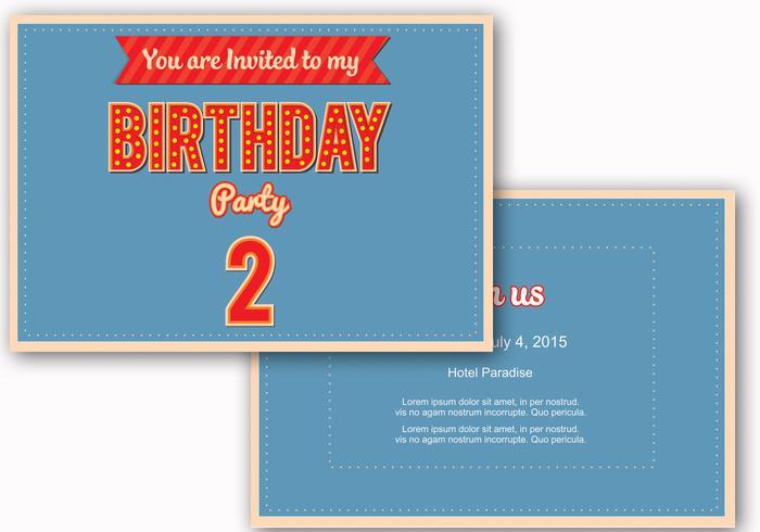 Birthday Invite Vector