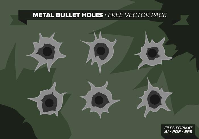Metal Bullet Hål Free Vector Pack