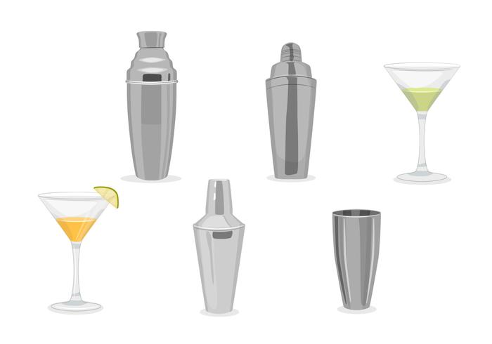 Cocktail shaker vectors