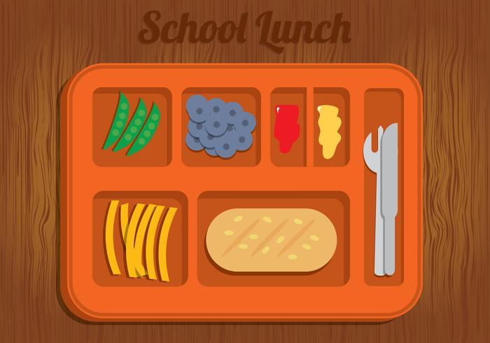 School Lunch Illustration Vector