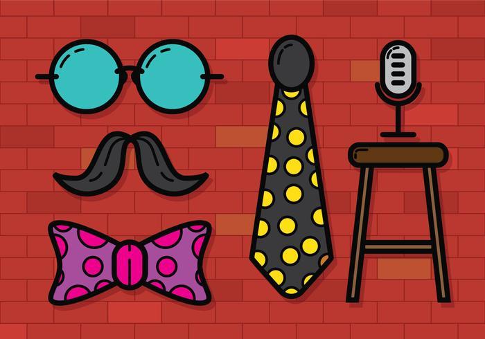 Comedy Club Icon Vector