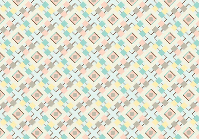 Pastel Geometric Abstract Pattern Vector