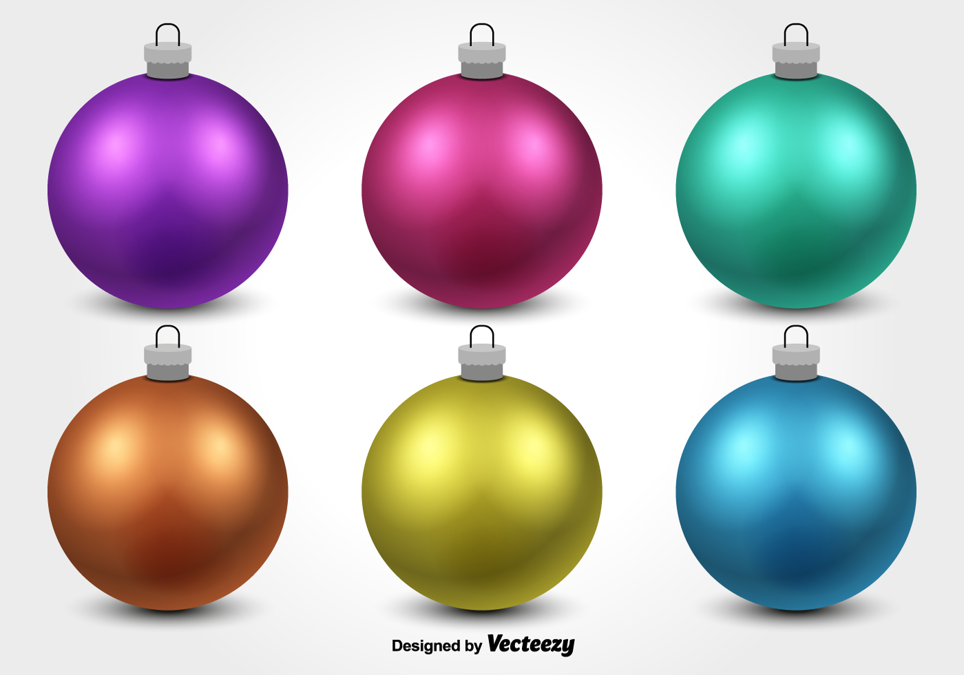 Colorful Christmas Ornament Vectors Download Free Vector