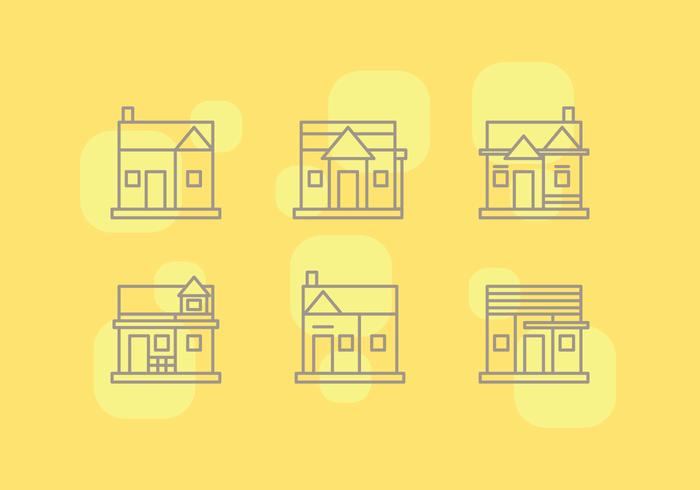 Free Townhomes Vector Icons #3