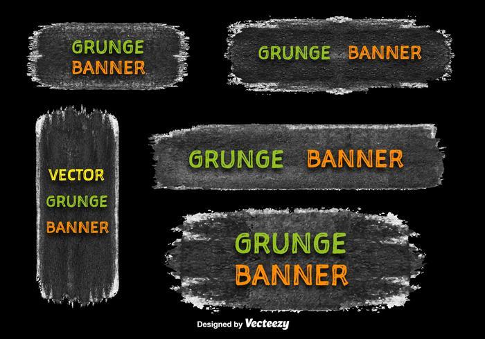 Grunge banner vectors