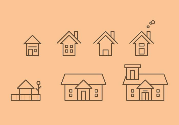 Free Townhomes Vector Icons #2