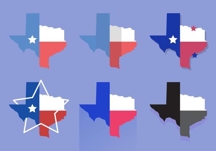 Texas Map Vector Icons #4