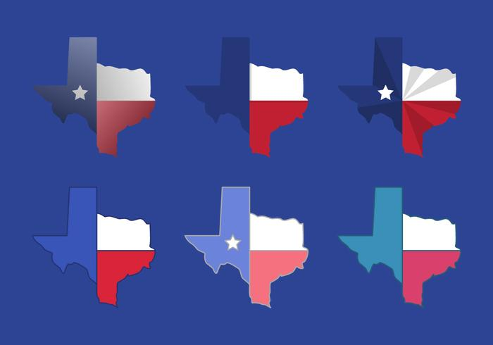 Ícones do vetor do mapa do Texas # 3