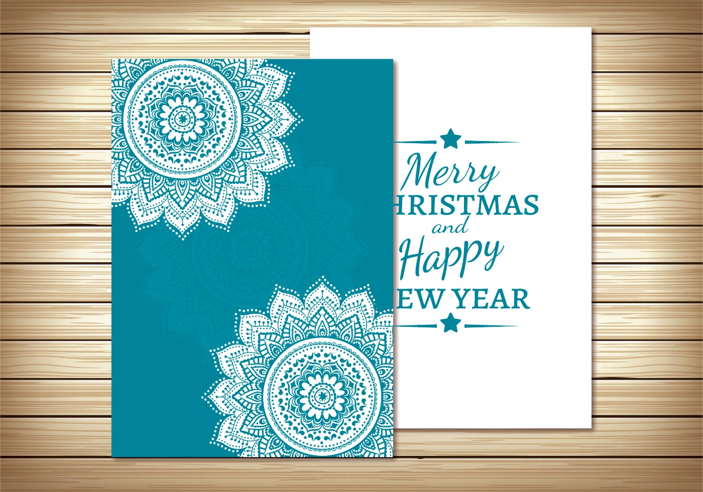 beautiful christmas card template  download free vector