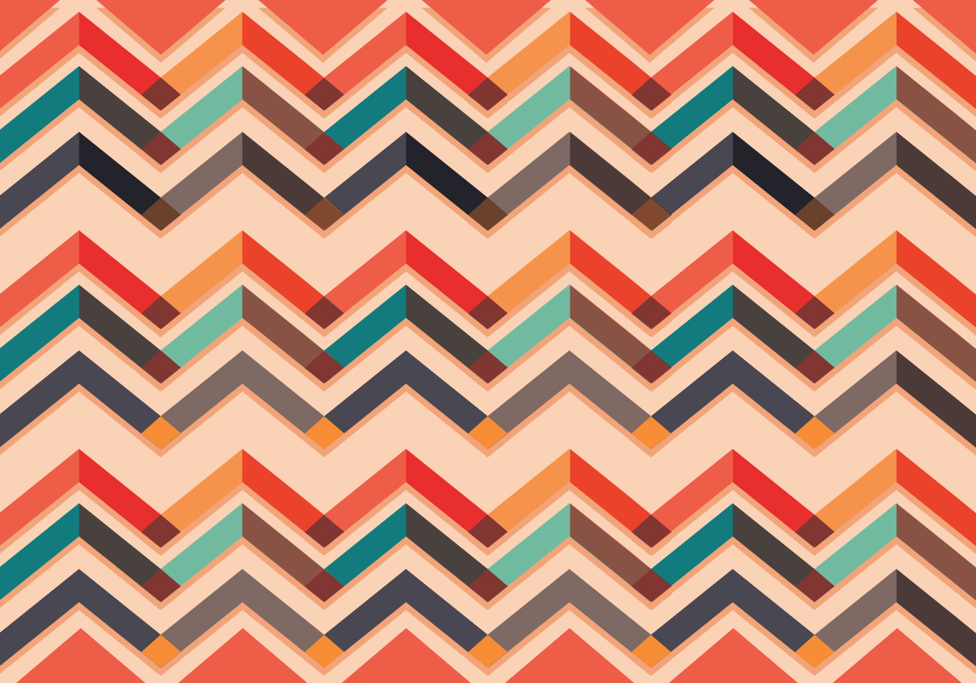 chevron pattern vector colorful download free vector art stock graphics images. Black Bedroom Furniture Sets. Home Design Ideas