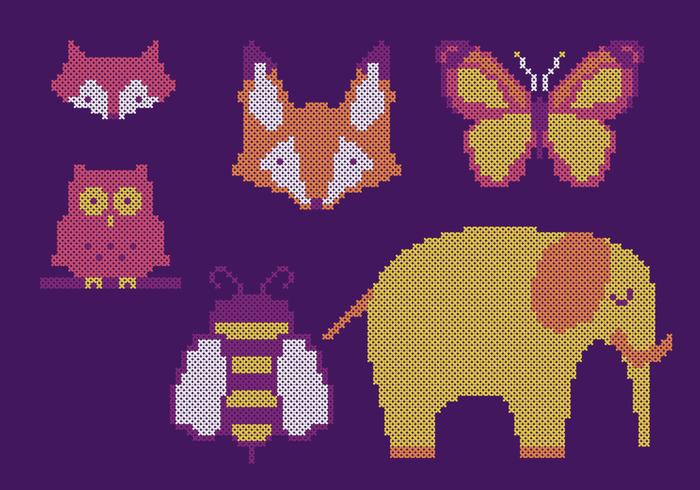Cross Stitch Animal Set