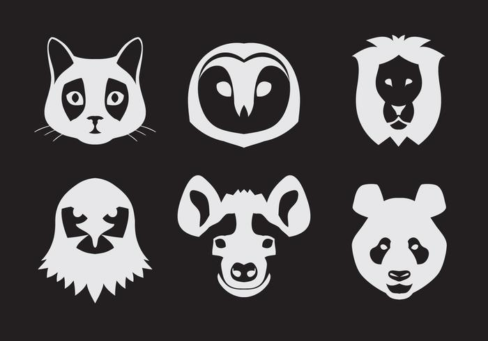 Vector Set of Animal Portraits