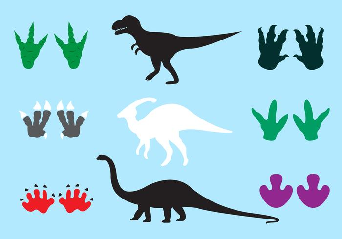 Dinosaur Footprints in Vector