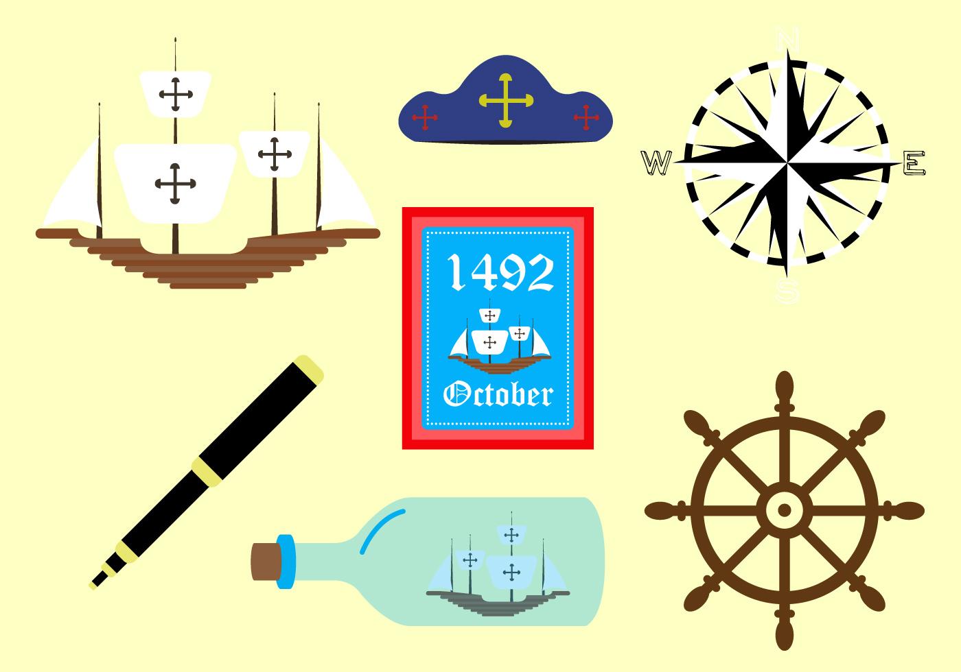 Vector Symbols Of Columbus Day Download Free Vector Art Stock