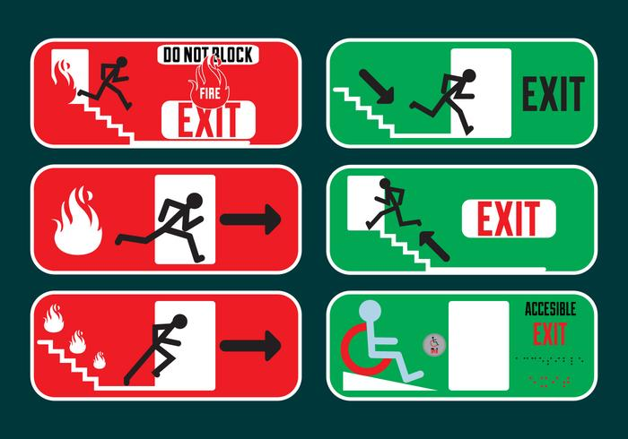 Exit signs in Vector Fromat