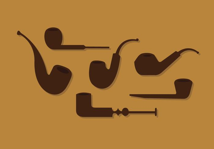 Tobacco Pipe Vector Set