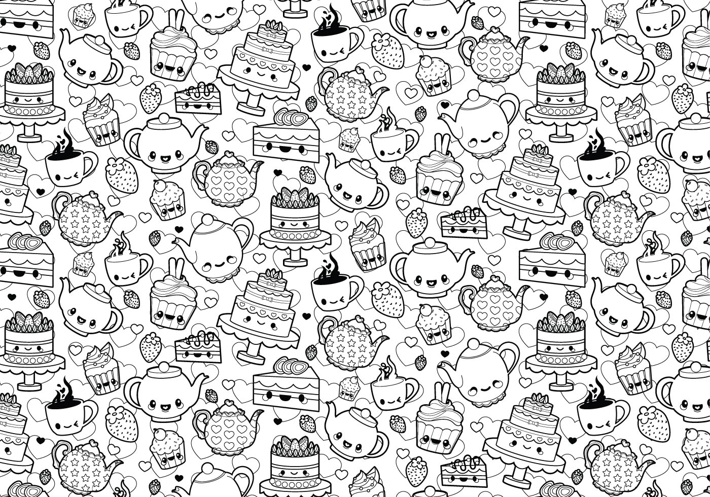 Tea Party Coloring Page Download
