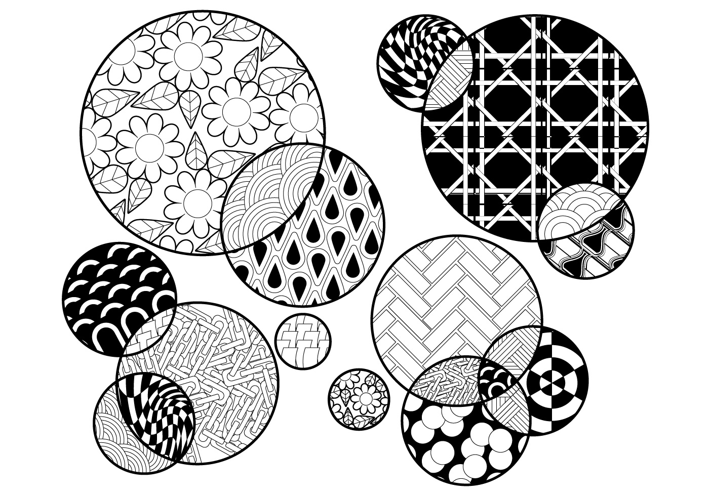 circle abstract coloring pages - photo#15