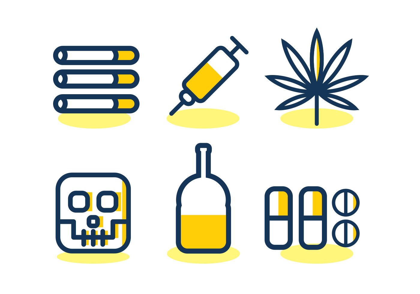 no drugs vector icon set download free vectors clipart graphics vector art https www vecteezy com vector art 99052 no drugs vector icon set