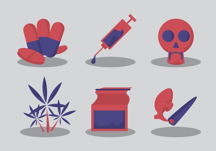 No Drugs Vector Set