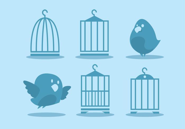 Bird Cage Vector Set