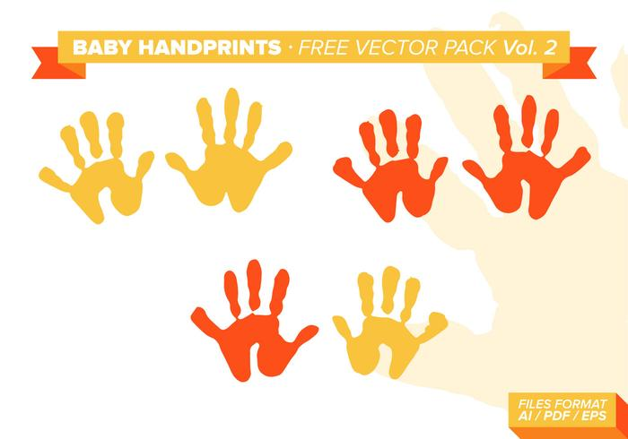 Baby Handprints Free Vector Pack Vol. 2