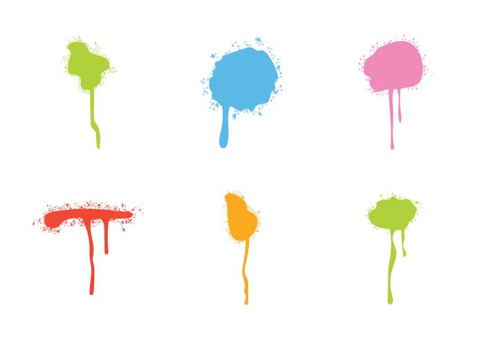 Free Sparypaint Drips Vector set
