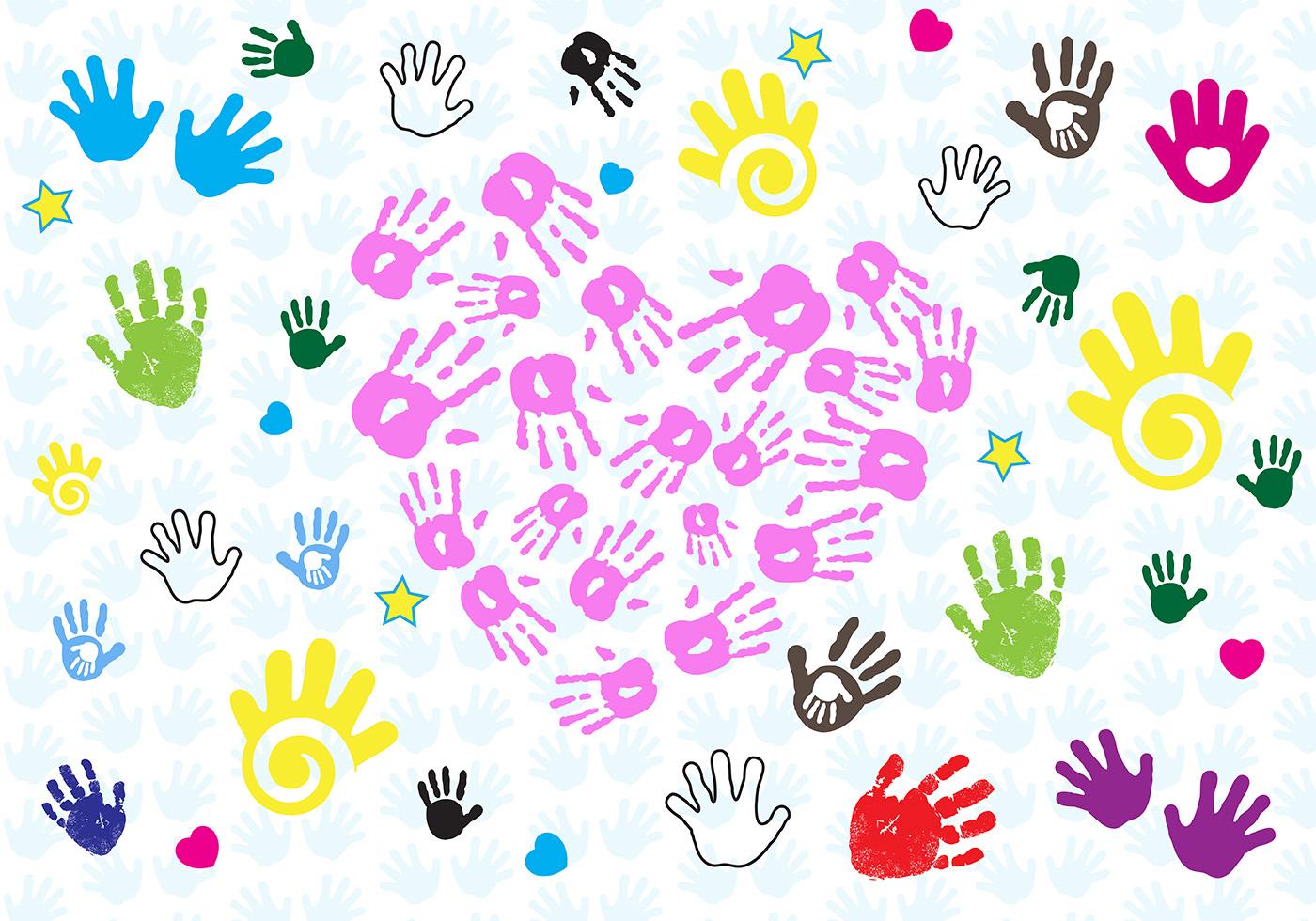 Baby hand print vector download free vector art stock for Clipart gratis download