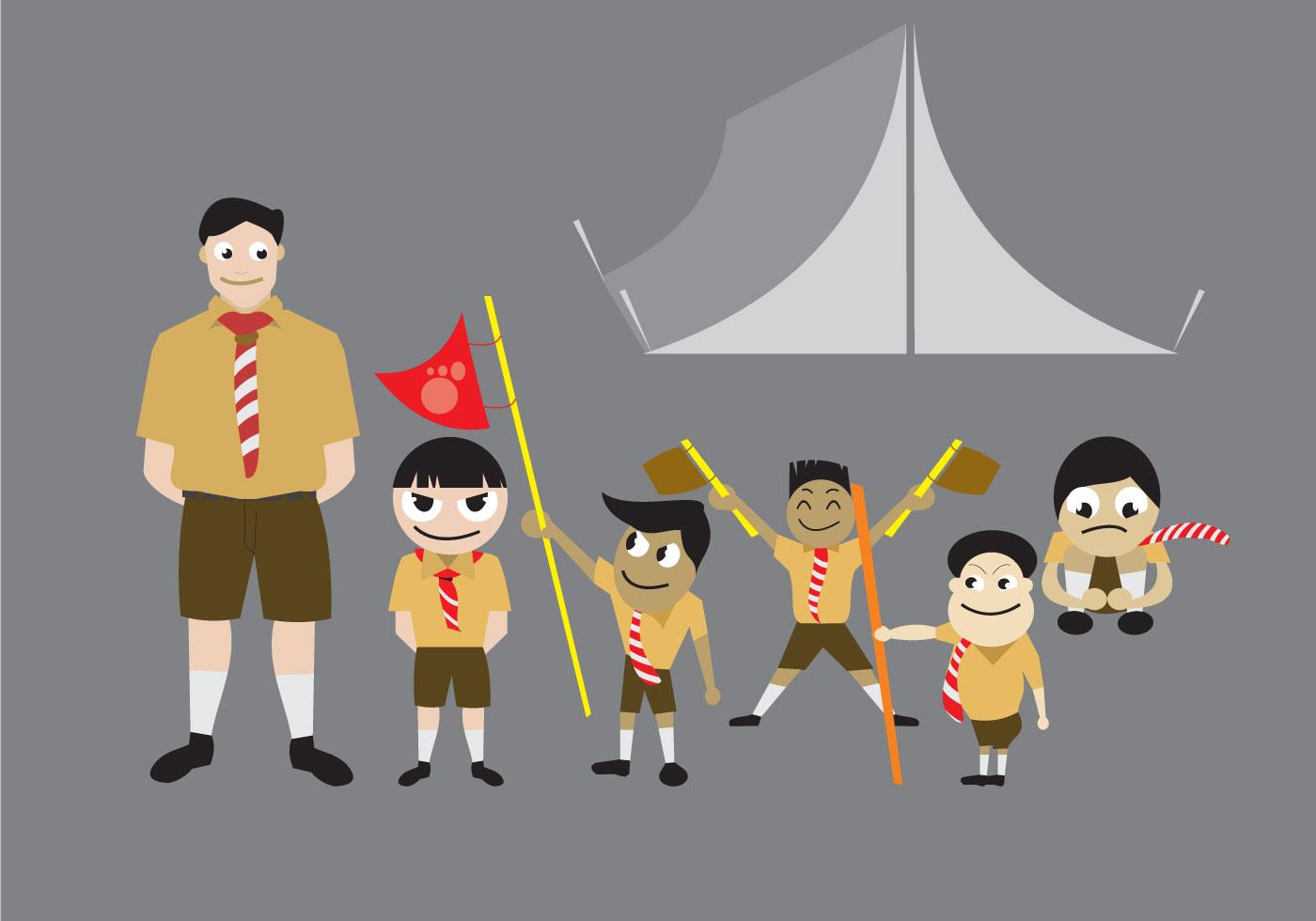 Matt The Scout Boy Credits Version 2: Download Free Vector Art, Stock
