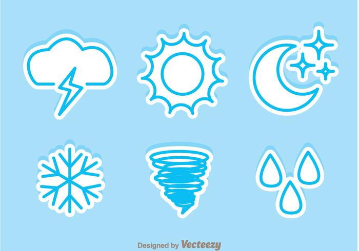 Weather Sticker Icons