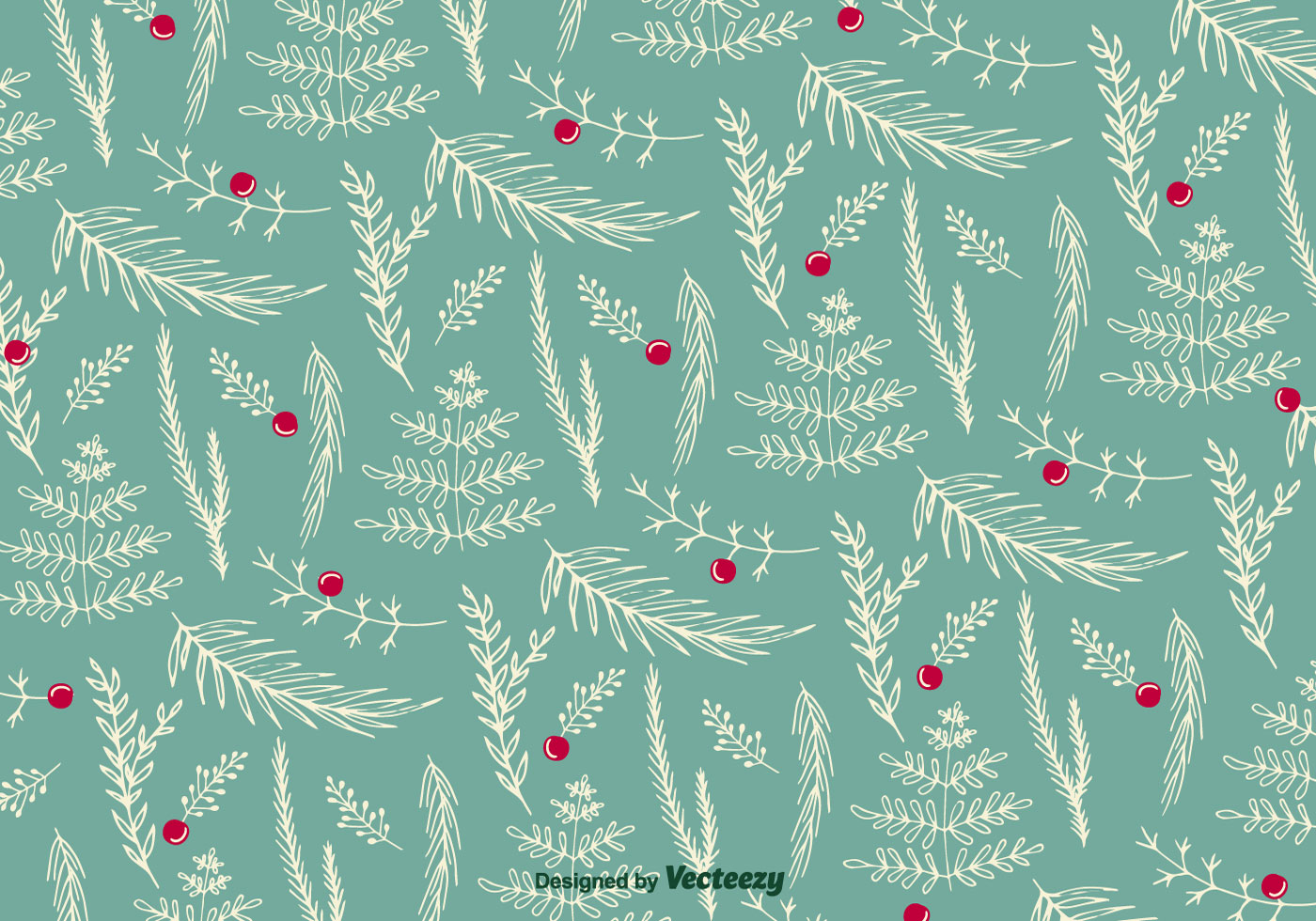 Christmas Floral Pattern Vector Download Free Vector Art