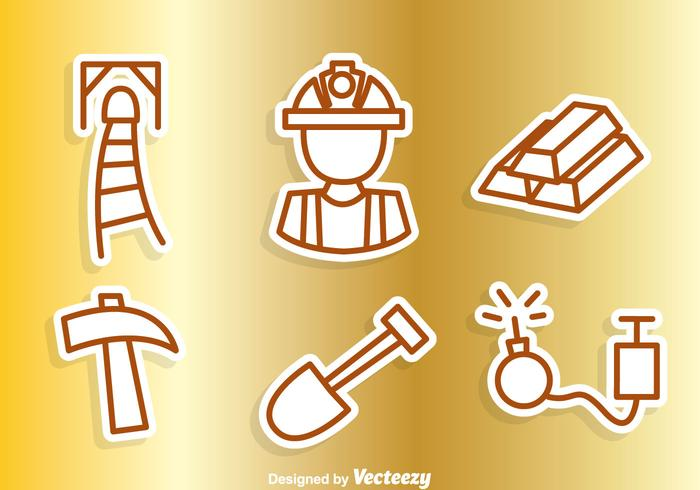 Gold Mine Outline Icons