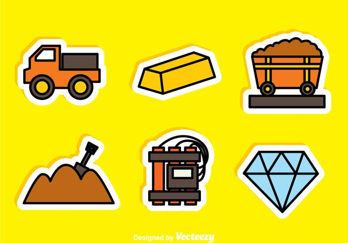 Gold And Diamond Mine Sticker Icons