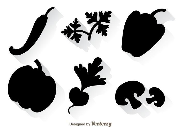 Icônes noires végétales
