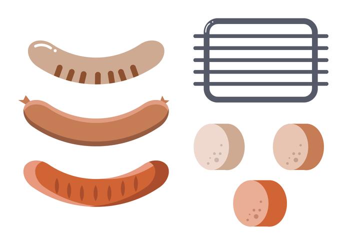 Bratwurst vector set
