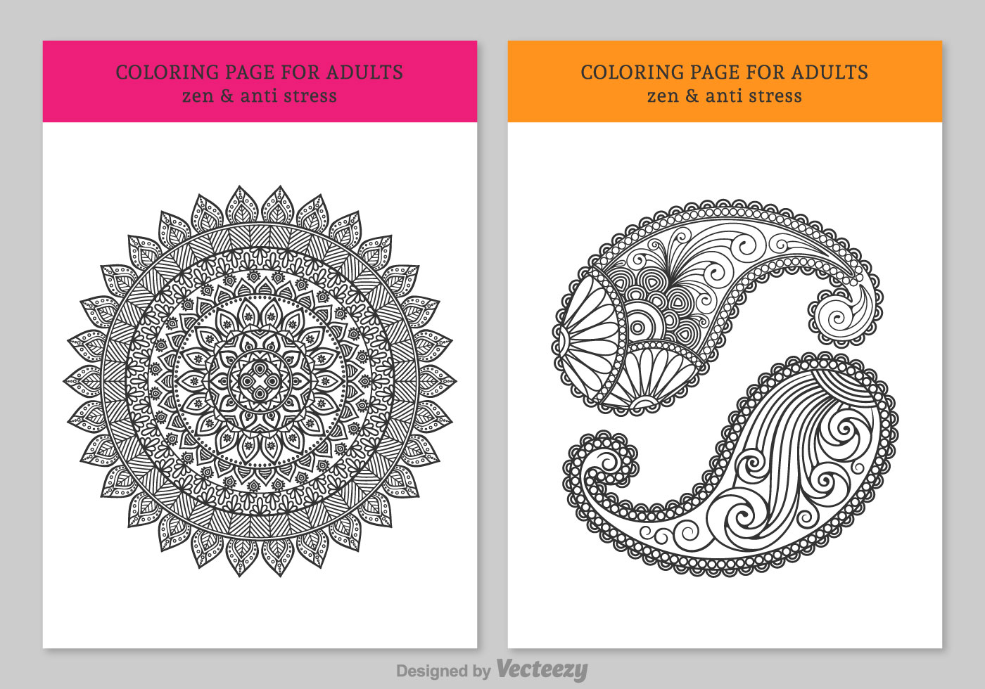 Free Coloring Pages For Adults Download Free Vector Art