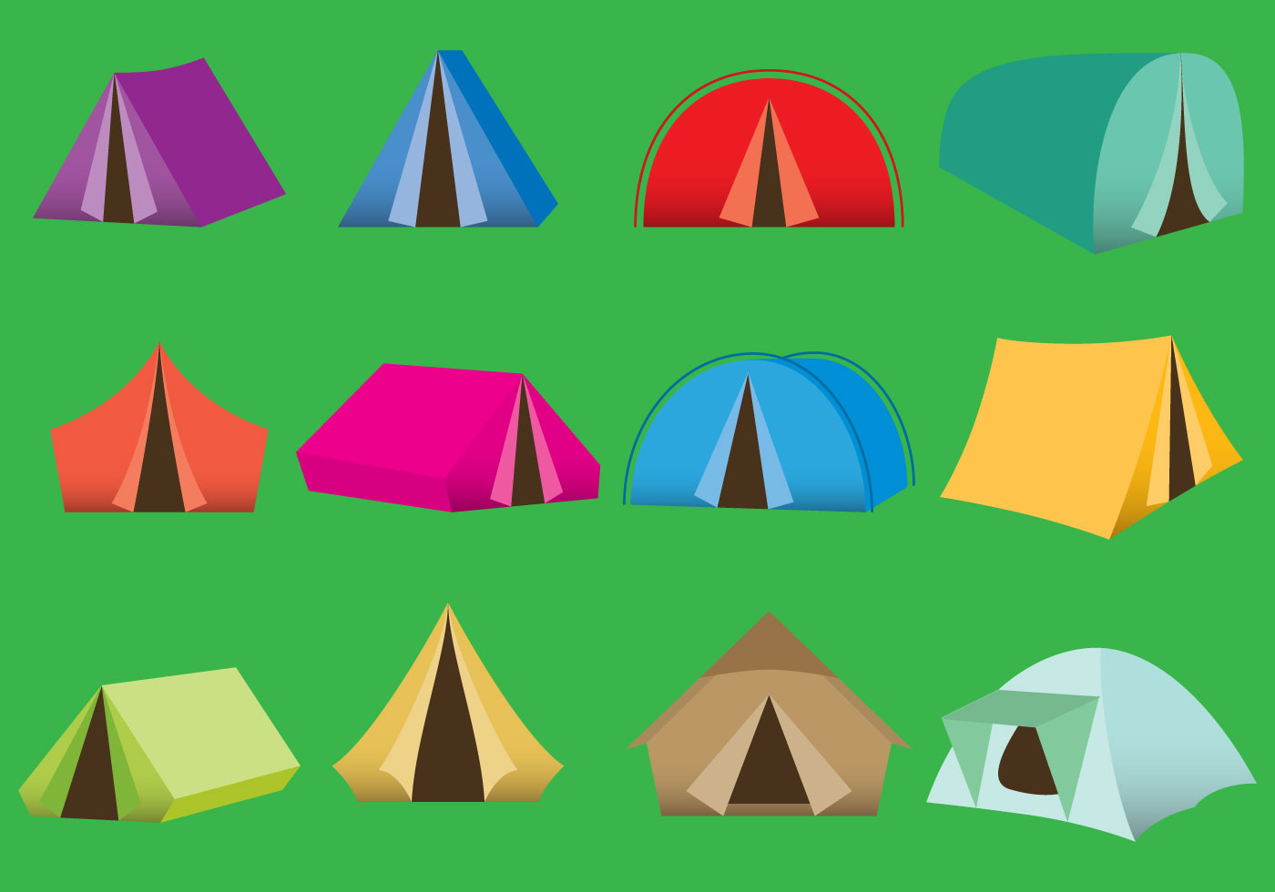 Camping Tent Free Vector Art - (715 Free Downloads)