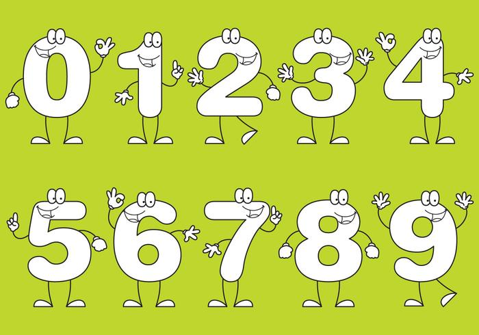 99212 Number Cartoons on Number Line Math