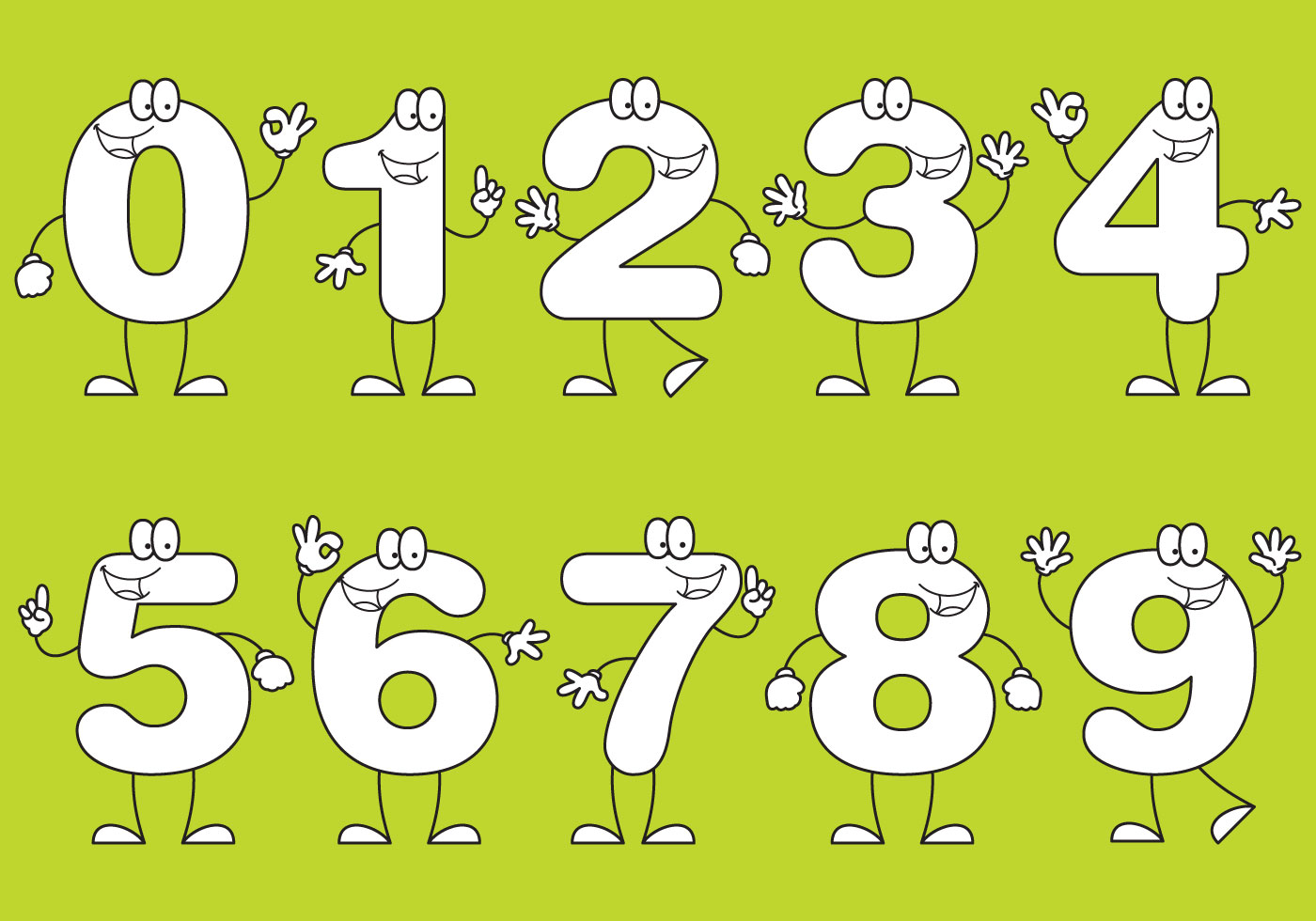 Number Cartoons - Download Free Vector Art, Stock Graphics & Images