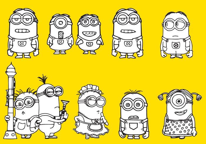 99213 Minions Coloring on Number 13 Coloring Page