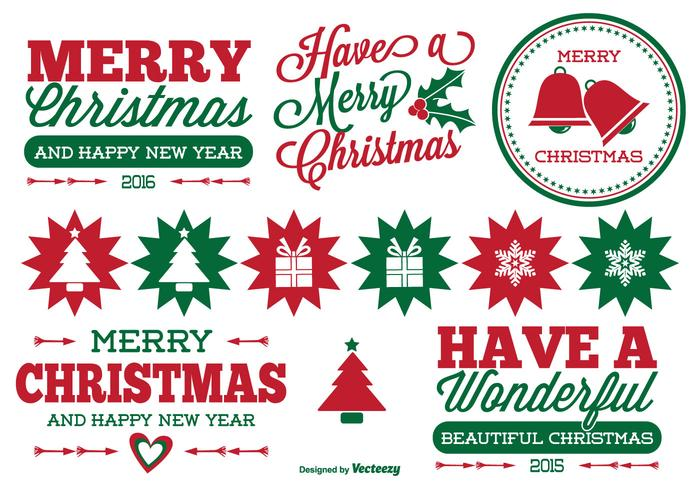 christmas label set download free vector art stock graphics images