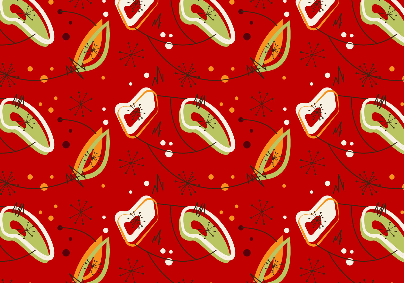 Free Mid Century Vector Pattern 7 Download Free Vector