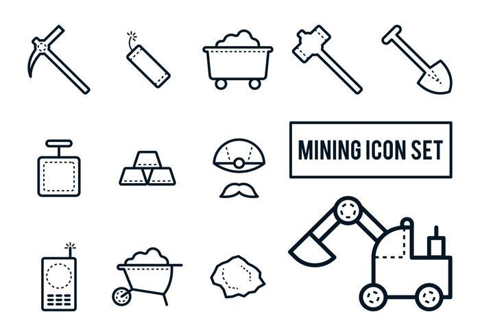 Gruva ikonuppsättning