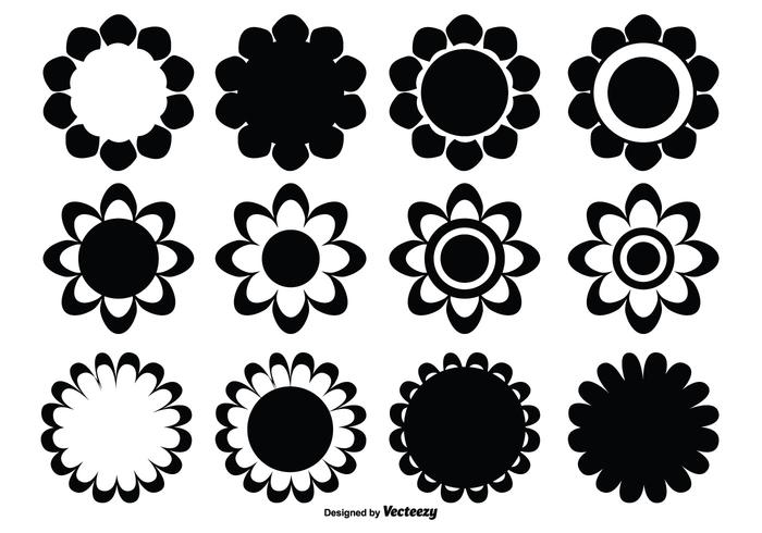 Assorted Flower Shape Set vector