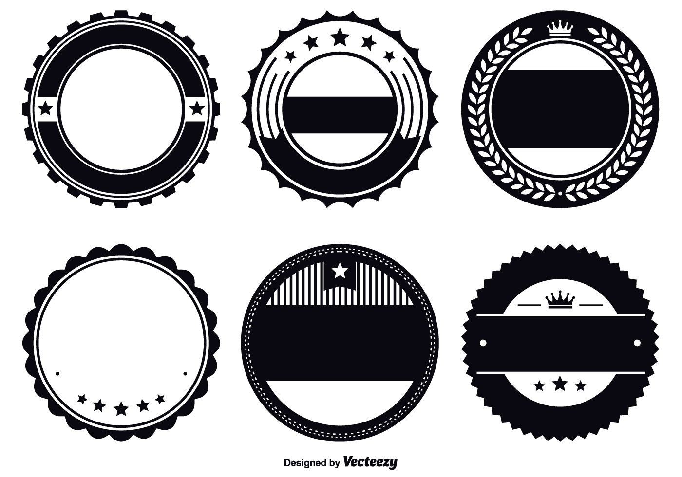 assorted badge template set download free vector art stock graphics images. Black Bedroom Furniture Sets. Home Design Ideas
