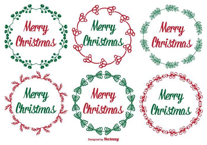 Conjunto de etiquetas de Natal fofos