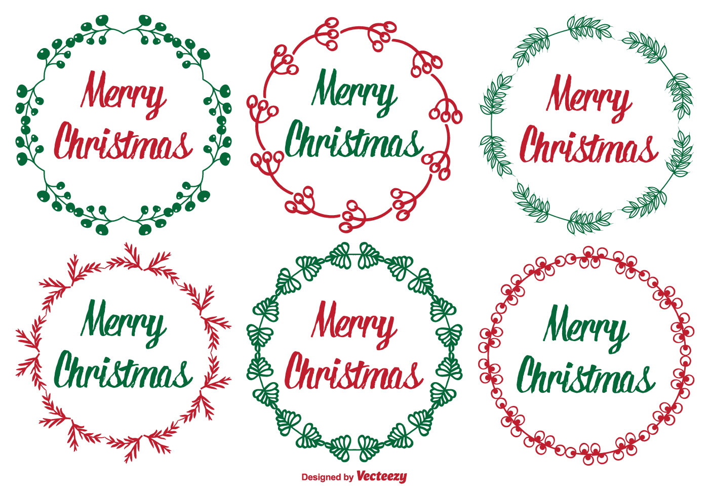 Cute Christmas Label Set - Download Free Vector Art, Stock Graphics ...