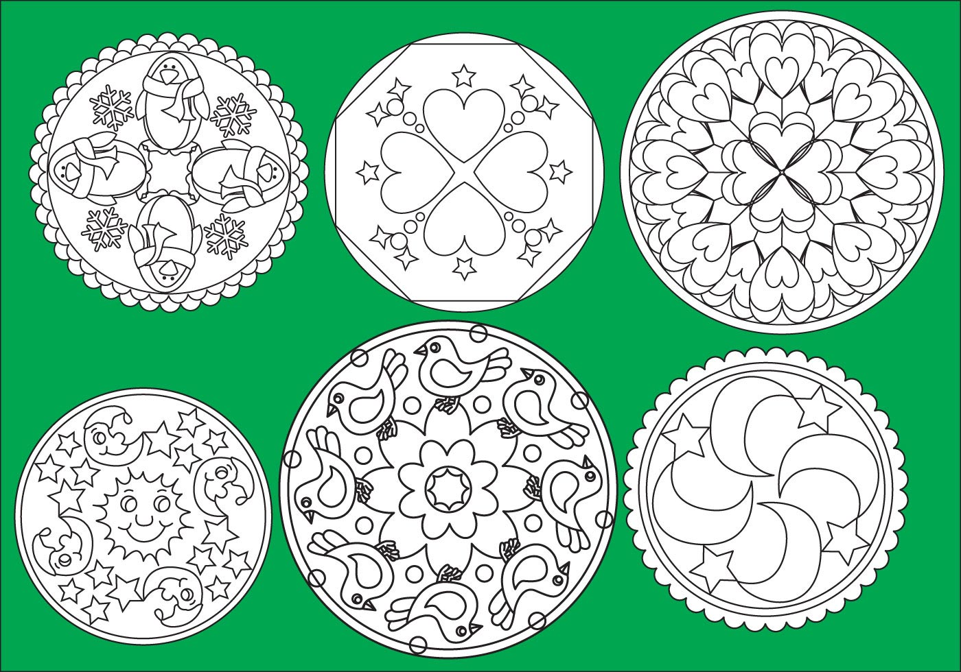 Children Coloring Mandalas - Download Free Vector Art, Stock ...
