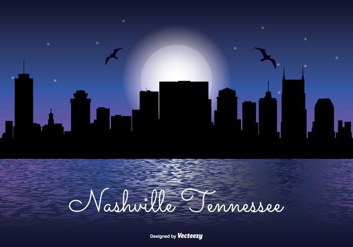 Nashville Tennessee Night Skyline
